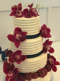 White Ribbon Buttercream with Orchids