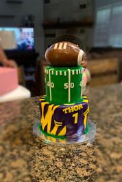 LSU themed tiered cake.JPG