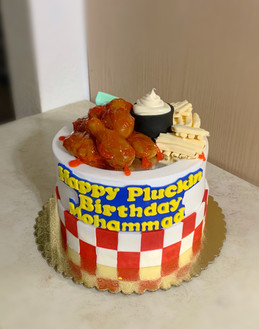 Pluckers Hot Wings themed cake.JPG