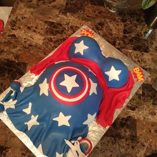 Mom to Be Cake Super Hero Theme