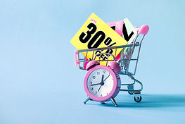 Mini shopping cart with a thirty percent