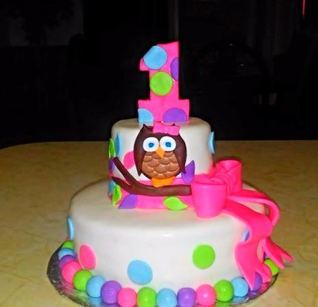 Stupendous Baby Owl 1St Birthday Cake Funny Birthday Cards Online Hetedamsfinfo