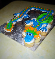Dragon Themed Cupcake Cake