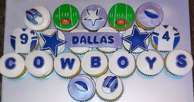 Dallas Cowboys Themed Cupcakes