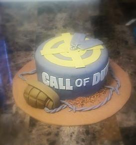 Call of Duty Inspired Cake