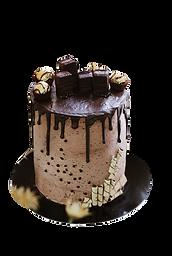 Tall Drip Cake with chocolate drip vecto