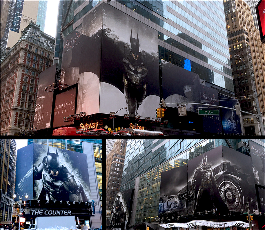 Times Square Takeover- Arkham Knight