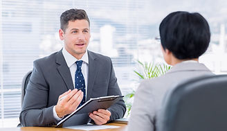 Recruiter-checking-the-candidate-during-