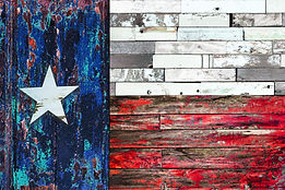 Lone Star flag. Flag of Texas on old pai