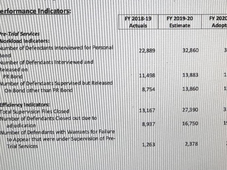 Bexar county pretrial service/costs/revenues