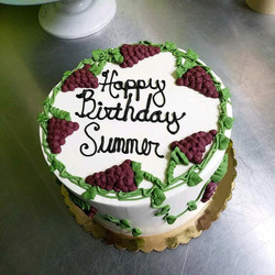wine grapes cake