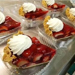 Fresh Strawberry Amaretto Pie