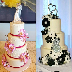 Wedding season 2017, here we come! First two delivered last week! #madefromscratch #weddingcake #flo