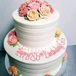 elegant rose birthday cake