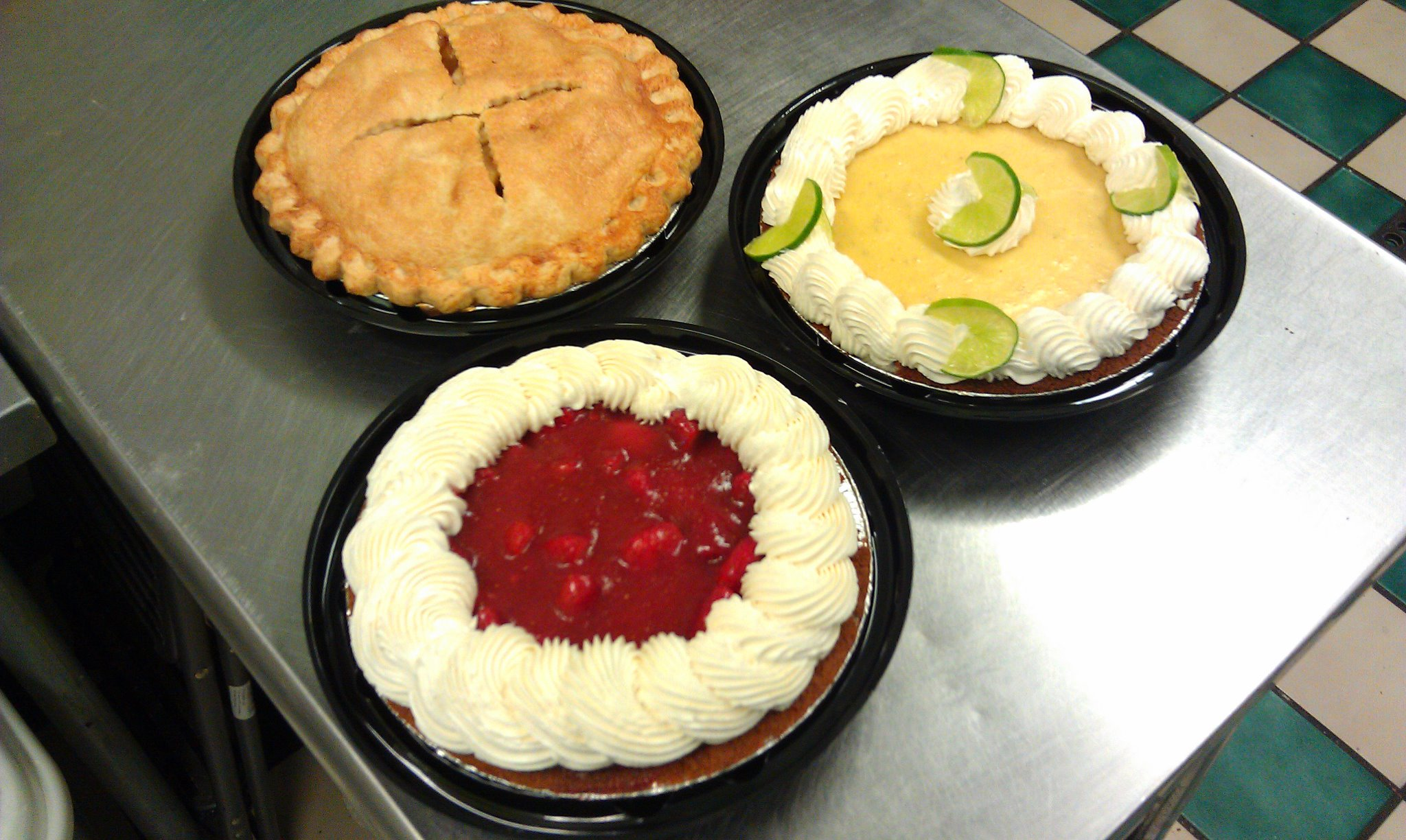 Variety of pies