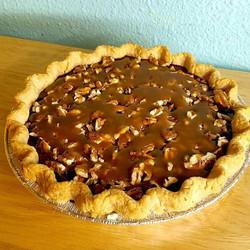 Turtle Brownie Pie