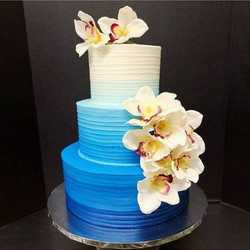 Ombre blue tropic vibes!