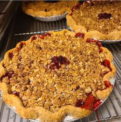 Strawberry Crisp Pie