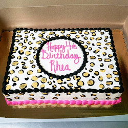 Buttercream Cheetah print sheet cake