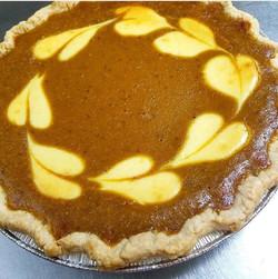 Pumpkin Cream Cheese-Swirl Pie