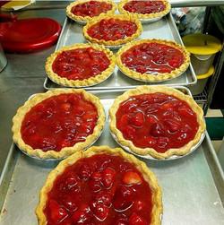 Making Fresh Strawberry Amaretto Pies