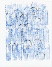 """Untitled (Black Circles on Blue)"""