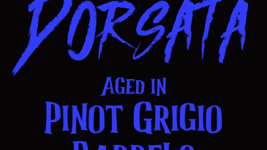 Dorsata aged in Pinot Grigio Barrels