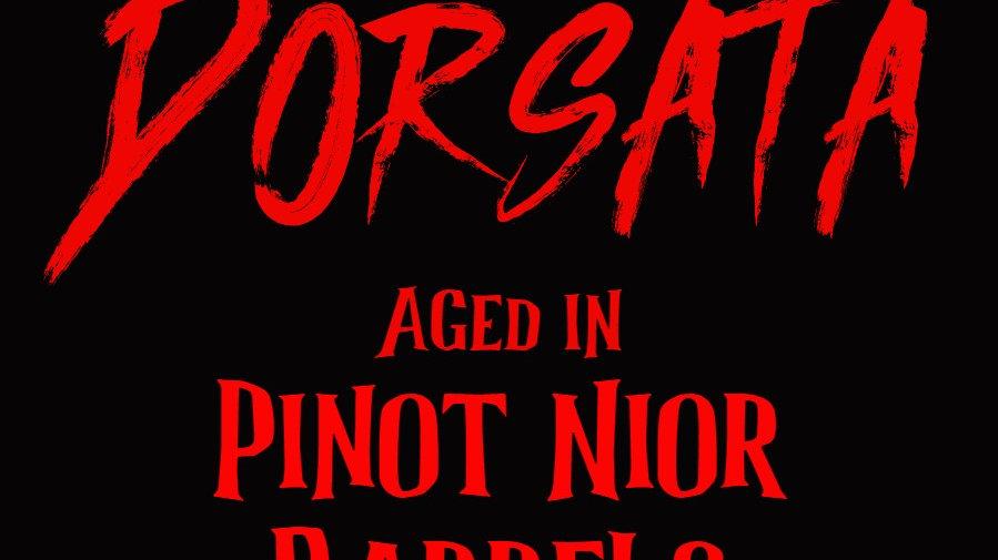 Dorsata aged in Pinot Noir Barrels