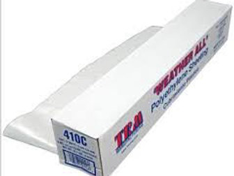 TRM Manufacturing 410C Weatherall 4 Mil Clear Poly Plastic Sheet, 1 Box of 100'