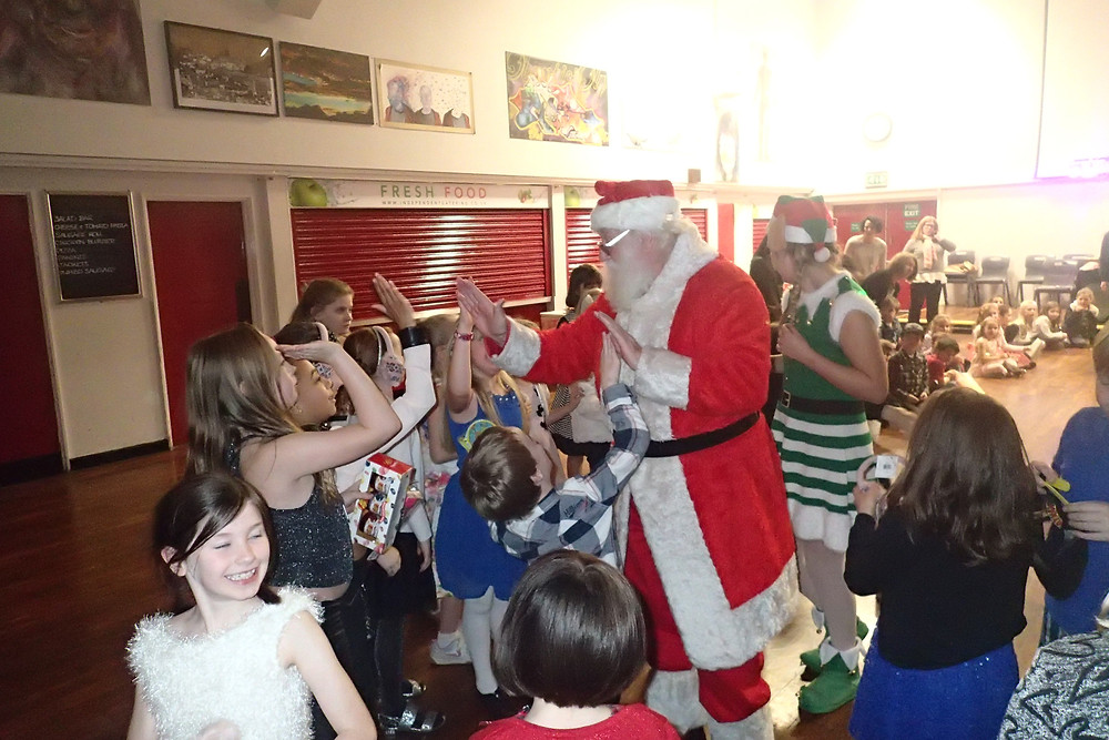 The 'real' Father Christmas leaving the party