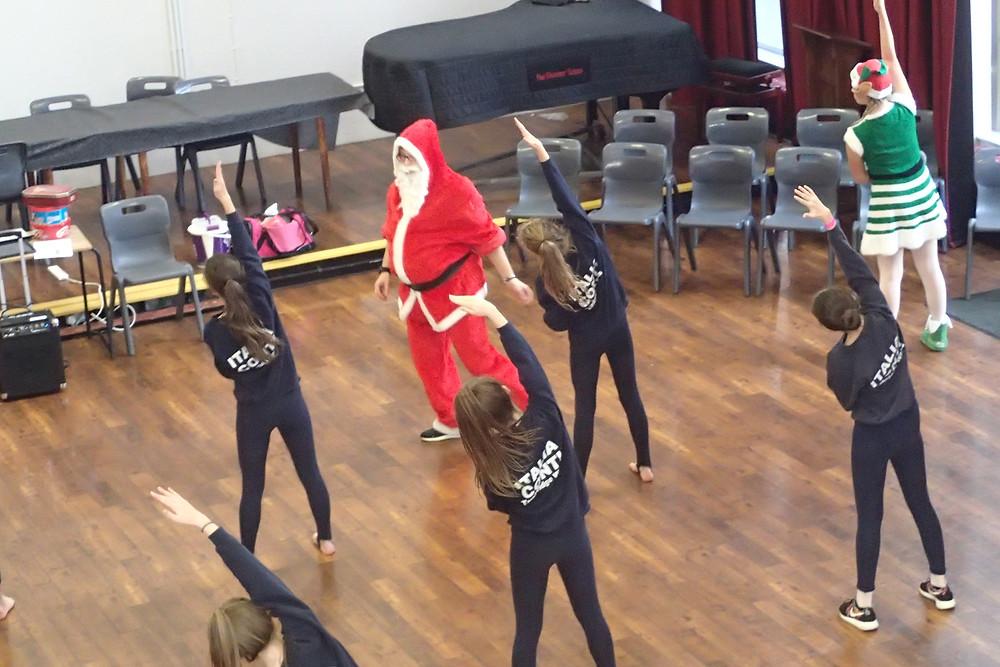 Santa teaching Modern with some 'Elf Help'