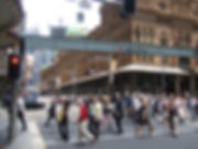 Photo of a crowded city street