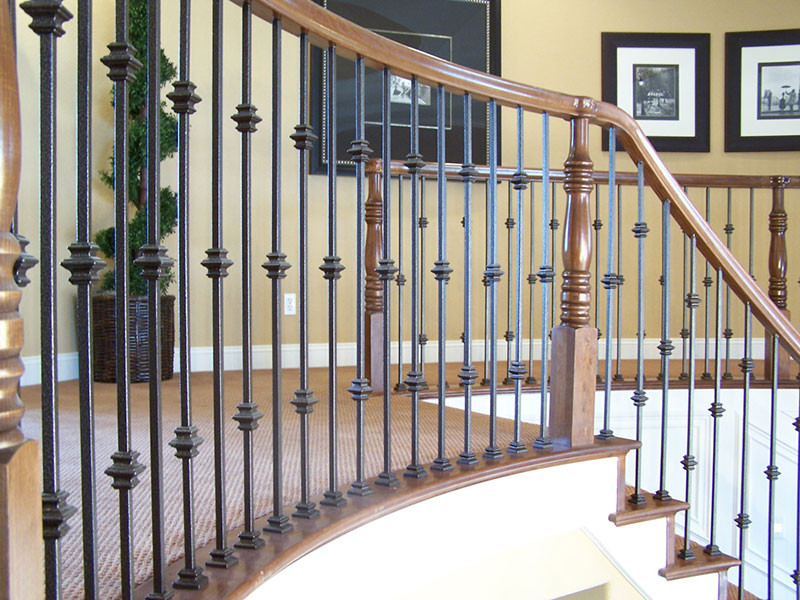 Over Post Iron Balusters