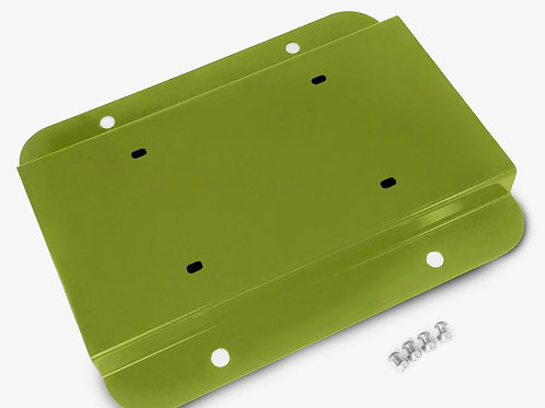 License Plate Relocation Kit, Gecko Green
