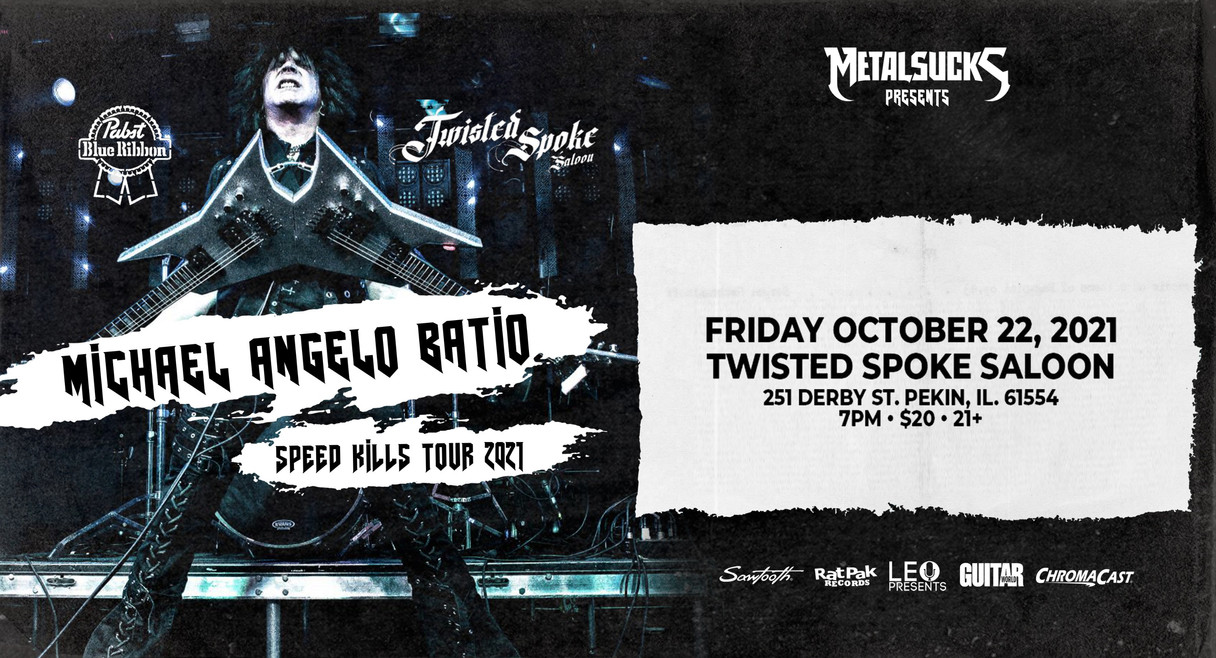 Michael Angelo Batio: Speed Kills Tour in Pekin
