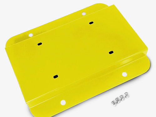 License Plate Relocation Kit, Neon Yellow