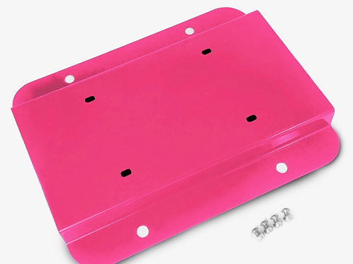 License Plate Relocation Kit, Hot Pink