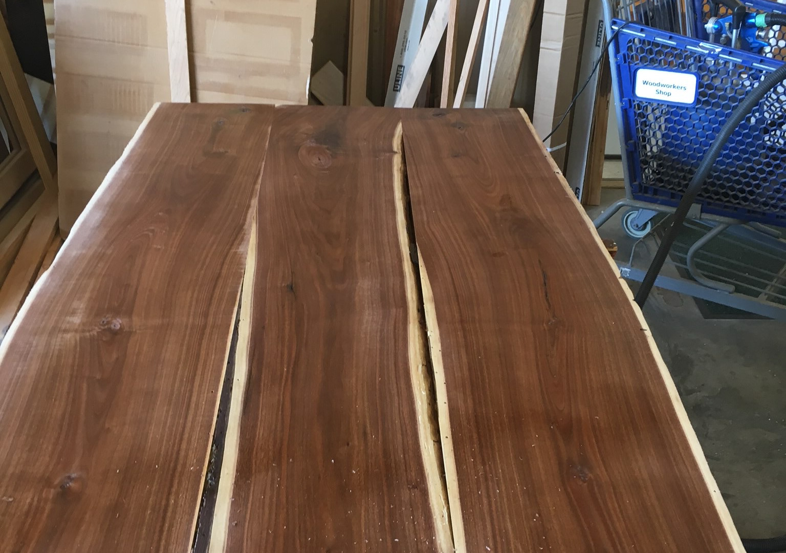 Walnut Dining Table Before 3