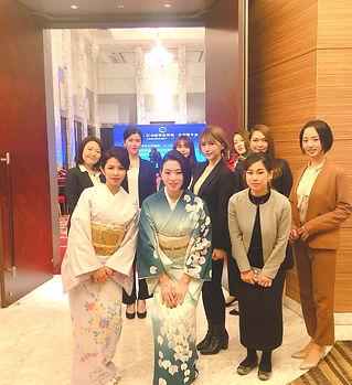 女子会、強め、中国、日中友好、日本、着物