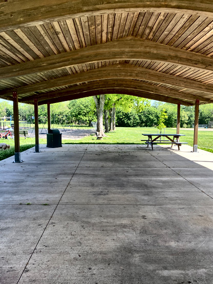 Covered pavilion area=Perfect outdoor dance floor