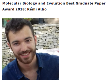 Rémi won SMBE award for best student paper!