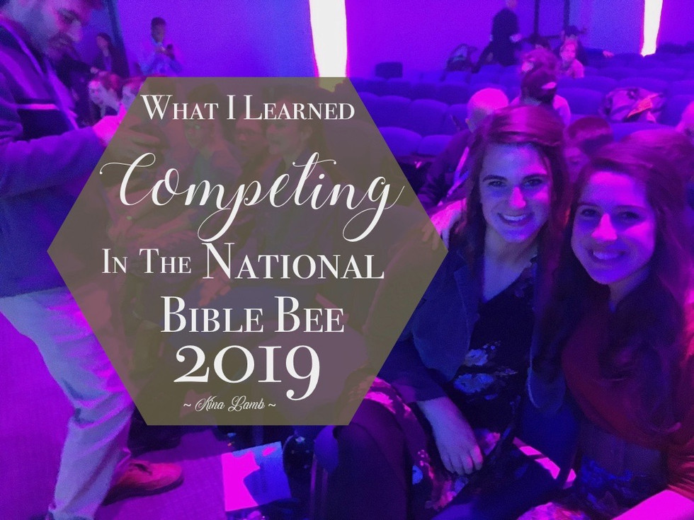 What I Learned Competing In The National Bible Bee 2019