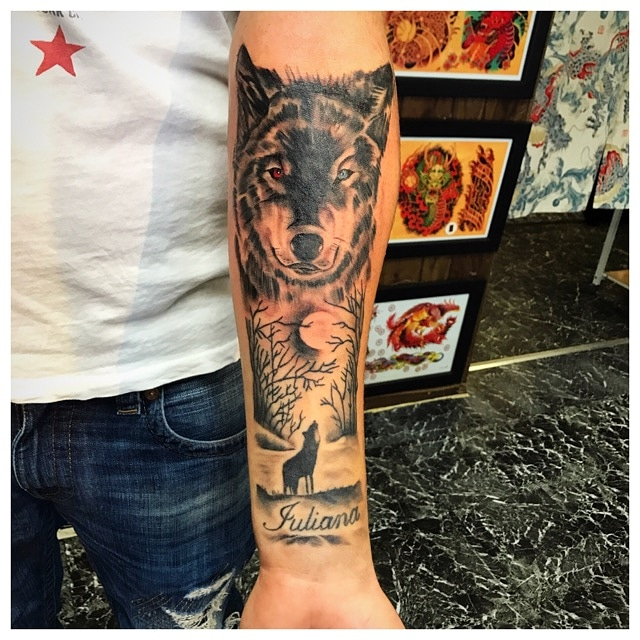 Wolf Tattoo by The Red Parlour Tattoo Wo