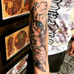 Tiger Tattoo by The Red Parlour Tattoo W