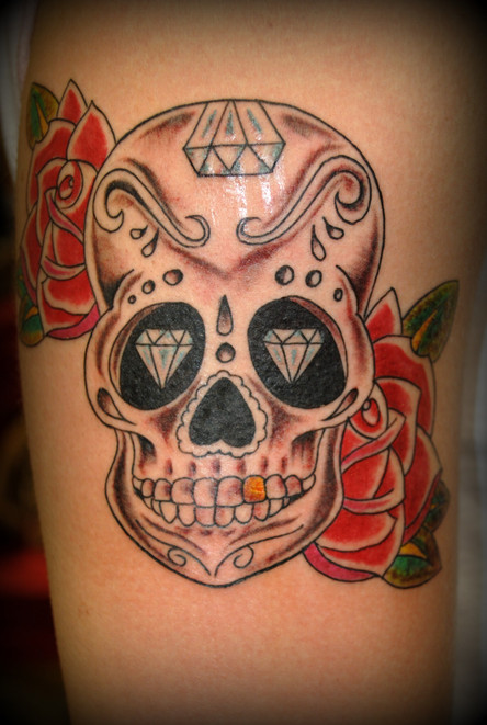 Sugar Skull Tattoo by The Red Parlour Ta
