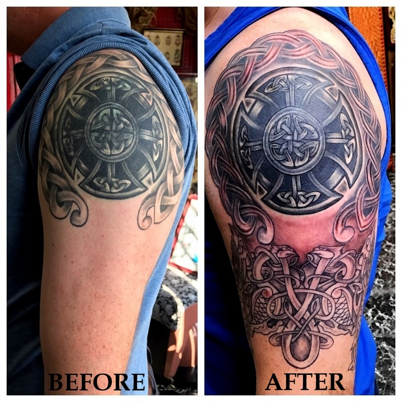 Tattoo Restoration on Celtic Tattoo by T