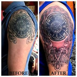 Tattoo Restoration on Celtic Tattoo by T
