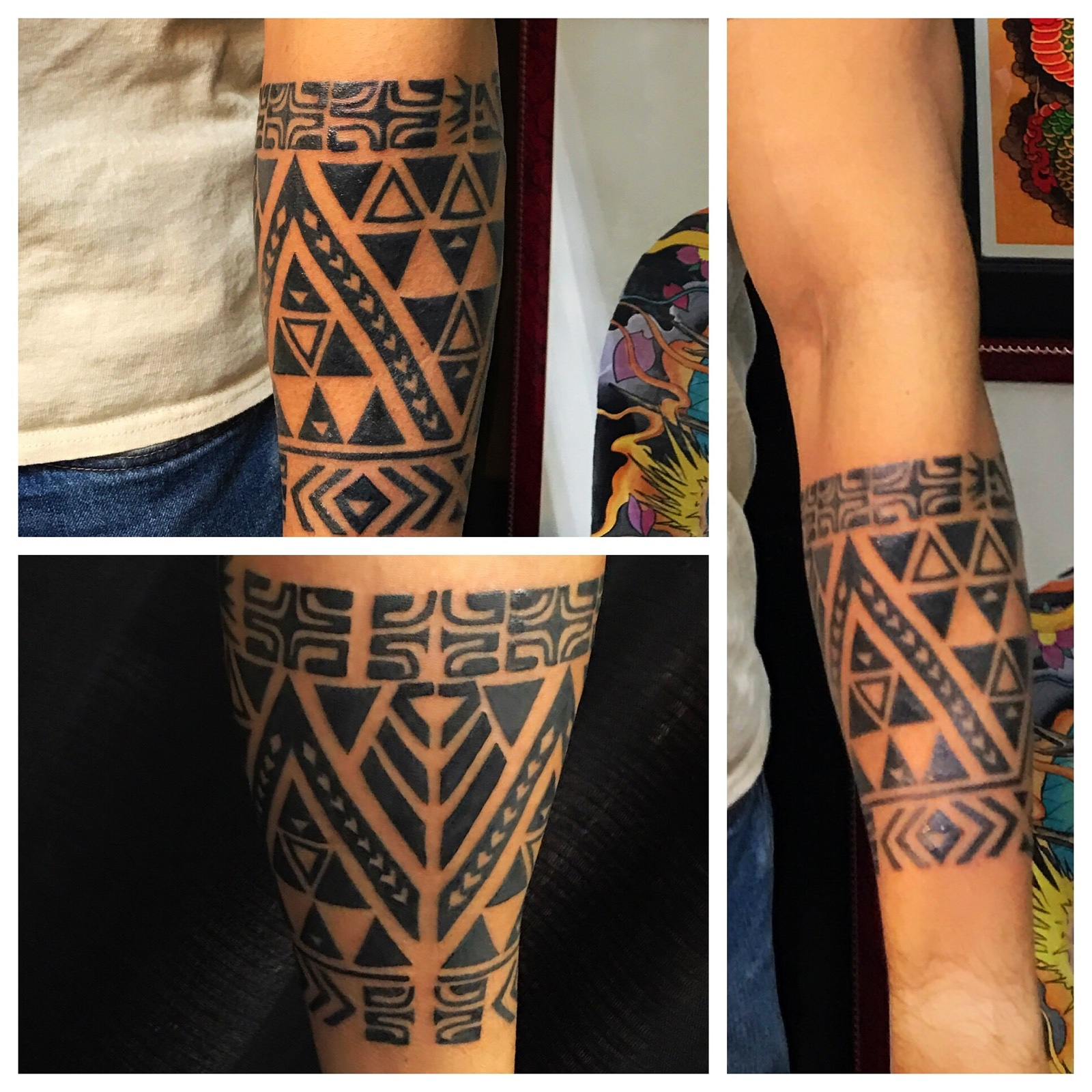 Polynesian Tattoo by Powder The Red Parl