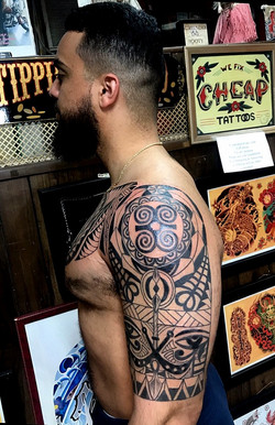 Polynesian Tattoo with Symbols  by The R