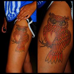 Owl Tattoo for Dark Complexions  Tattoo